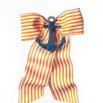 Orange Stripe with Navy Anchor