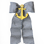 Navy Stripe with Yellow Anchor