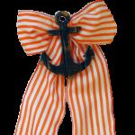 Orange Stripe with Navy Anchor