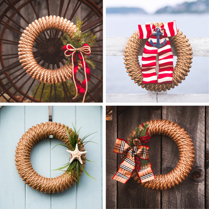 hampton rope wreath best sellers